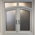 Square french window with curved sashes